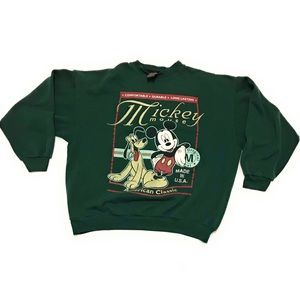 Vintage Mickey Mouse & Pluto Crewneck Sweatshirt